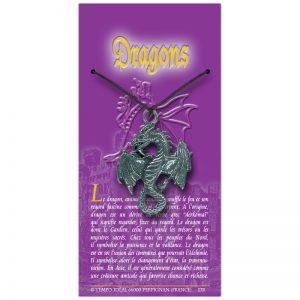 Dragon sur sa carte personnalisée