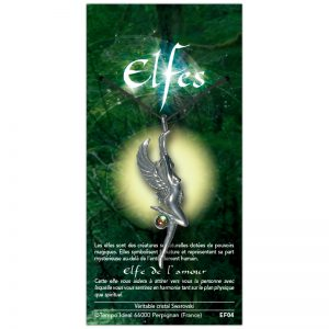Elfe de l'amour sur sa carte personnalisée
