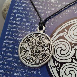 Pendentif Beth - Signe Celtique