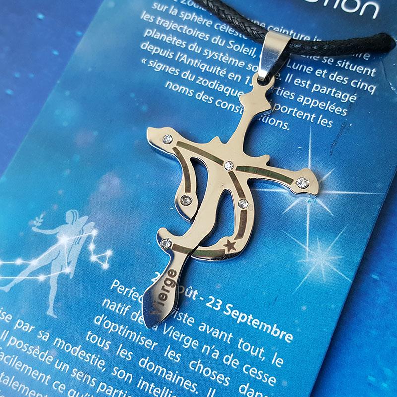 Pendentif Vierge - Zodiac Constellation