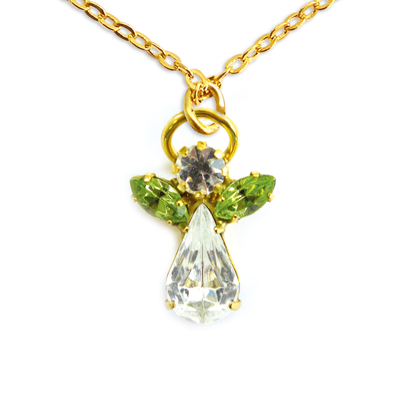 Ange de cristal Péridot