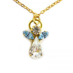 Ange de cristal Bleu Zircon