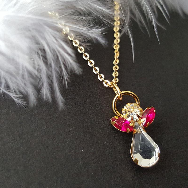 Ange de Cristal Grenat