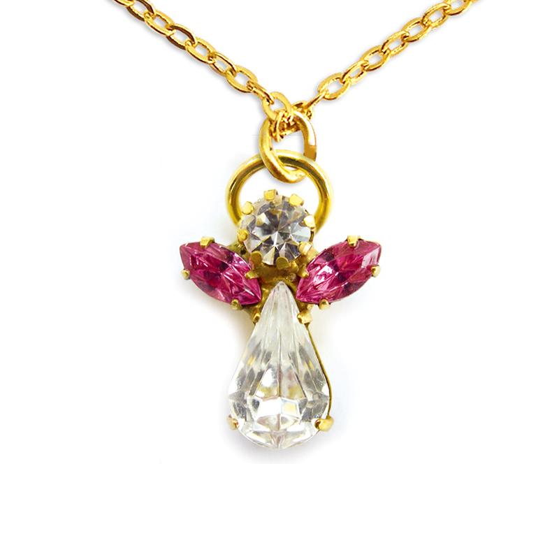 Ange de cristal Rose Zircon