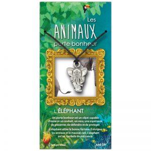 L'éléphant sur sa carte personnalisée