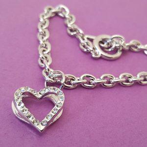 Bracelet Coeur Strass