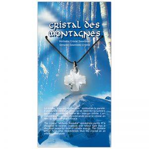 Croix de cristal sur sa carte personnalisée