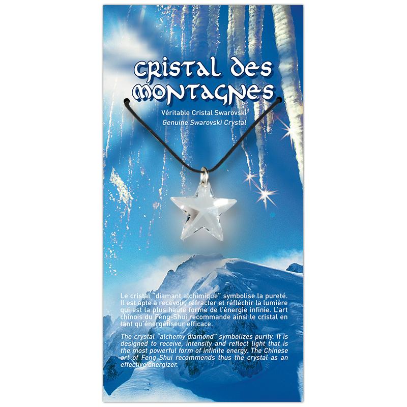 Étoile de cristal sur sa carte personnalisée