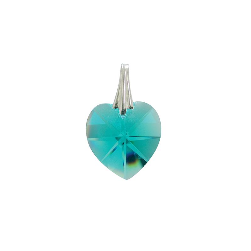 Coeur de Cristal - Bleu clair
