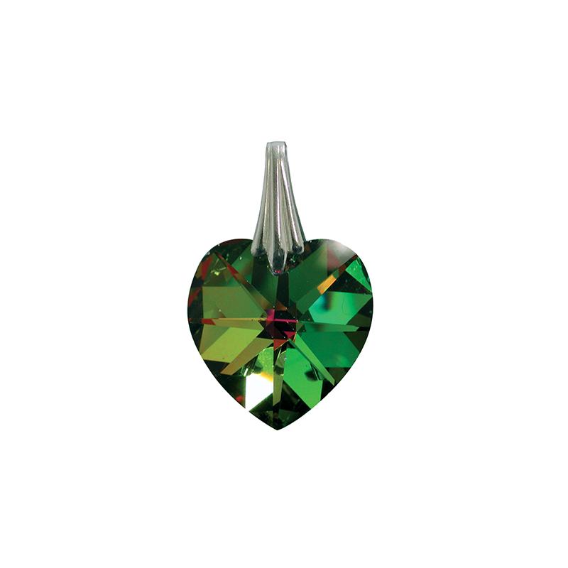 Coeur de Cristal - Vert reflets