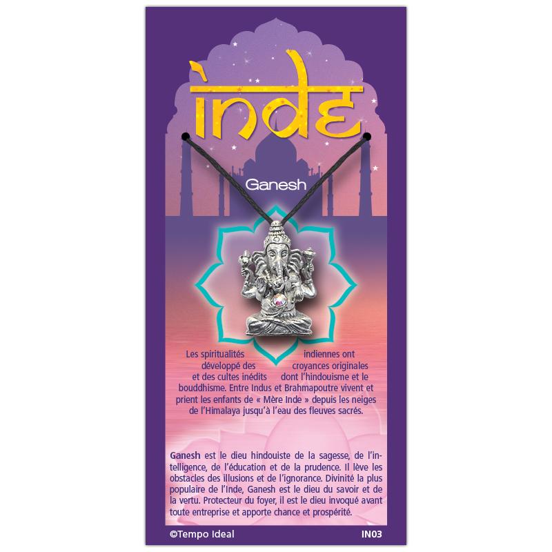 Ganesh sur sa carte personnalisée