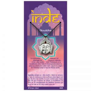 Tête de Bouddha sur sa carte personnalisée