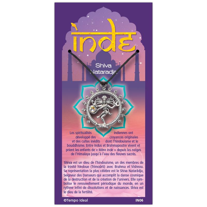 Shiva sur sa carte personnalisée