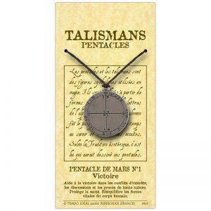Pentacle de Mars N°1 sur sa carte personnalisée