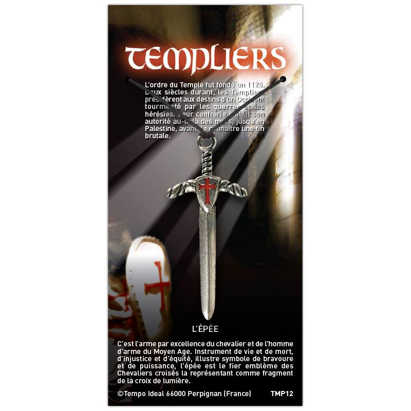 L'épée sur sa carte personnalisée