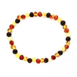 Bracelet d'ambre - Olivettes multicolores