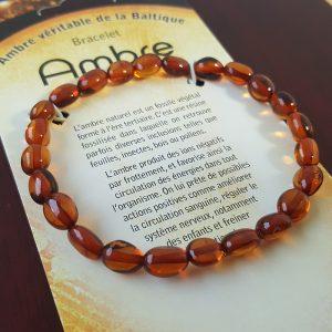 Bracelet ambre olivettes
