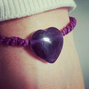 Bracelet Coeur Améthyste