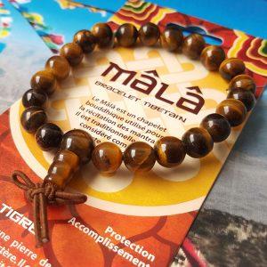 Bracelet Tibétain Oeil de Tigre
