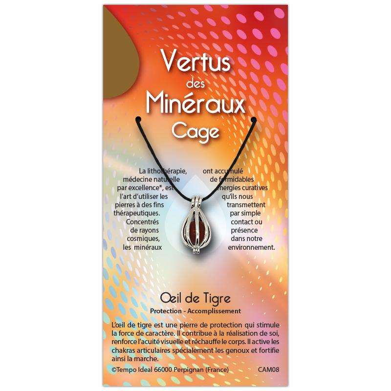 Cage Oeil de tigre sur sa carte personnalisée