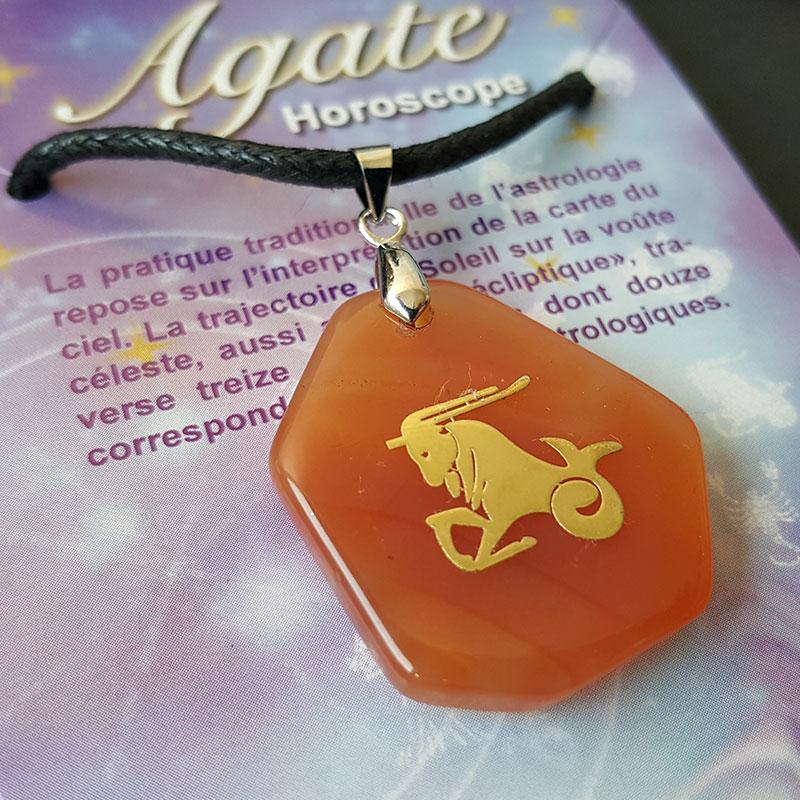 Pendentif astro en agate - Capricorne