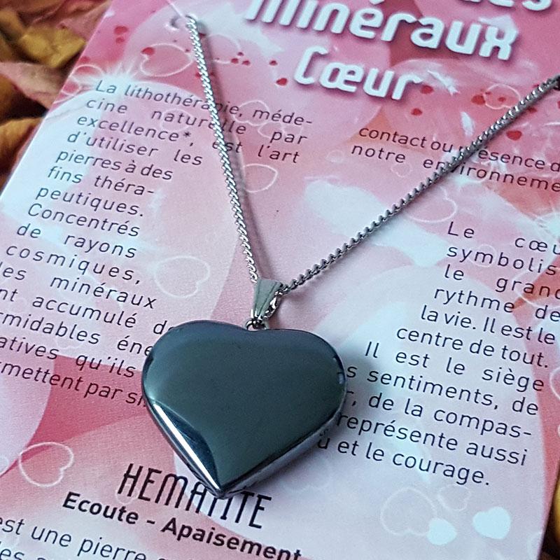 Coeur en Hématite