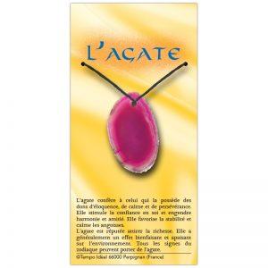 Agate rose sur sa carte personnalisée