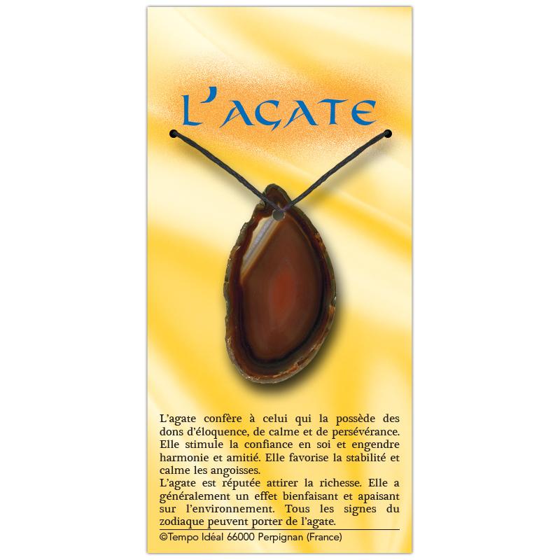 Agate marron sur sa carte personnalisée