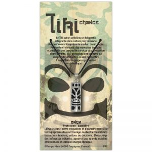 Tiki Chance sur sa carte personnalisée
