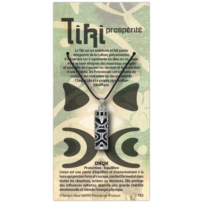 Tiki Prospérité sur sa carte personnalisée