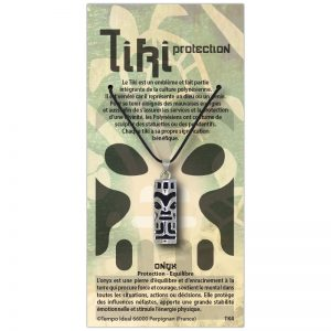 Tiki Protection sur sa carte personnalisée