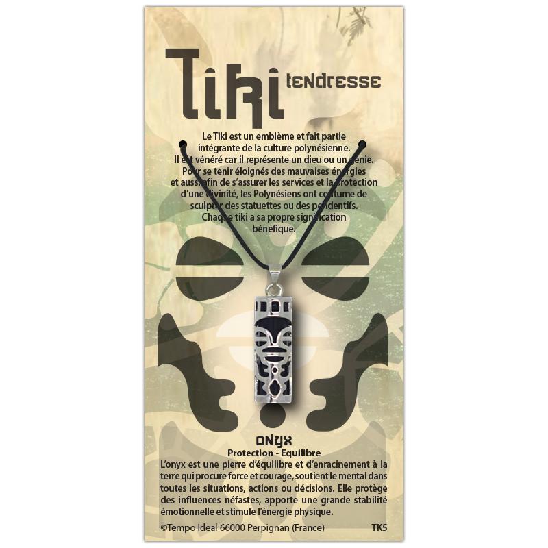 Tiki Tendresse sur sa carte personnalisée