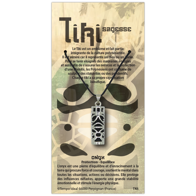 Tiki Sagesse sur sa carte personnalisée