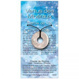 Cercle de Vie Cristal de roche sur sa carte personnalisée