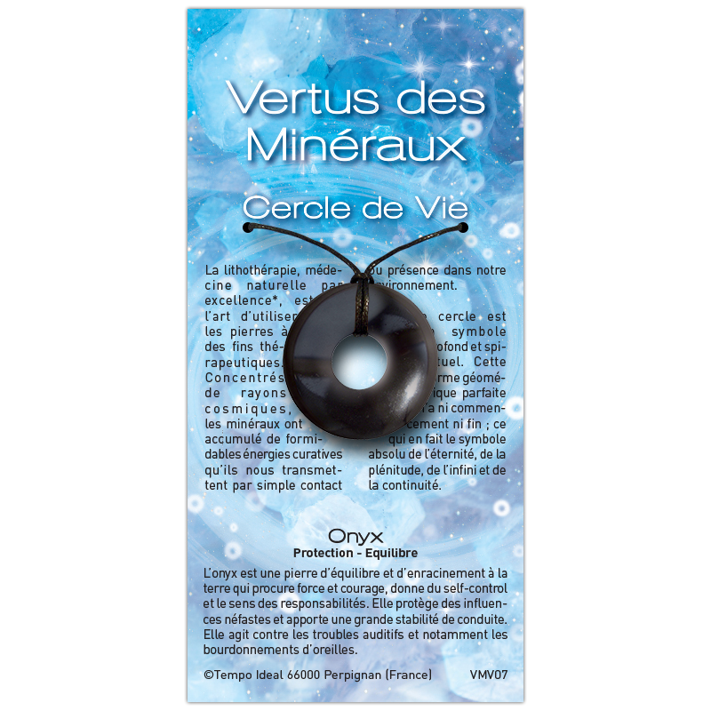 Cercle de Vie Onyx sur sa carte personnalisée