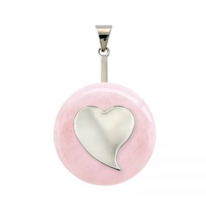 DUO Coeur Quartz rose