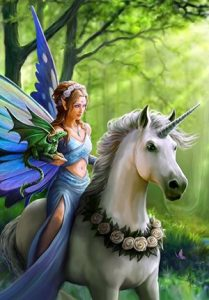 Anne Stokes - Licorne, fée et dragon