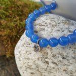 Bracelet de vie agate bleue